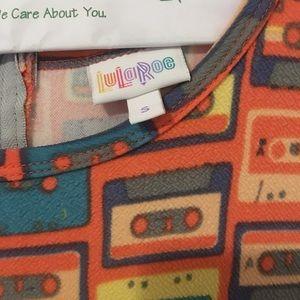 LulaRoe Amelia cassette tape pattern dress
